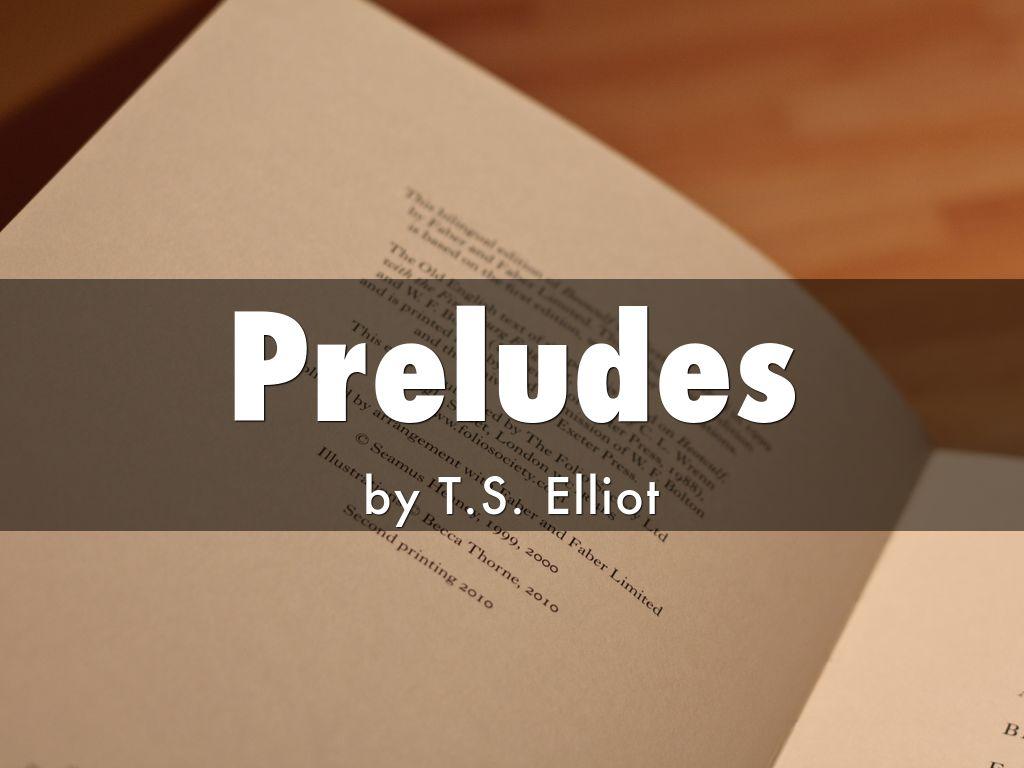 preludes t s eliot