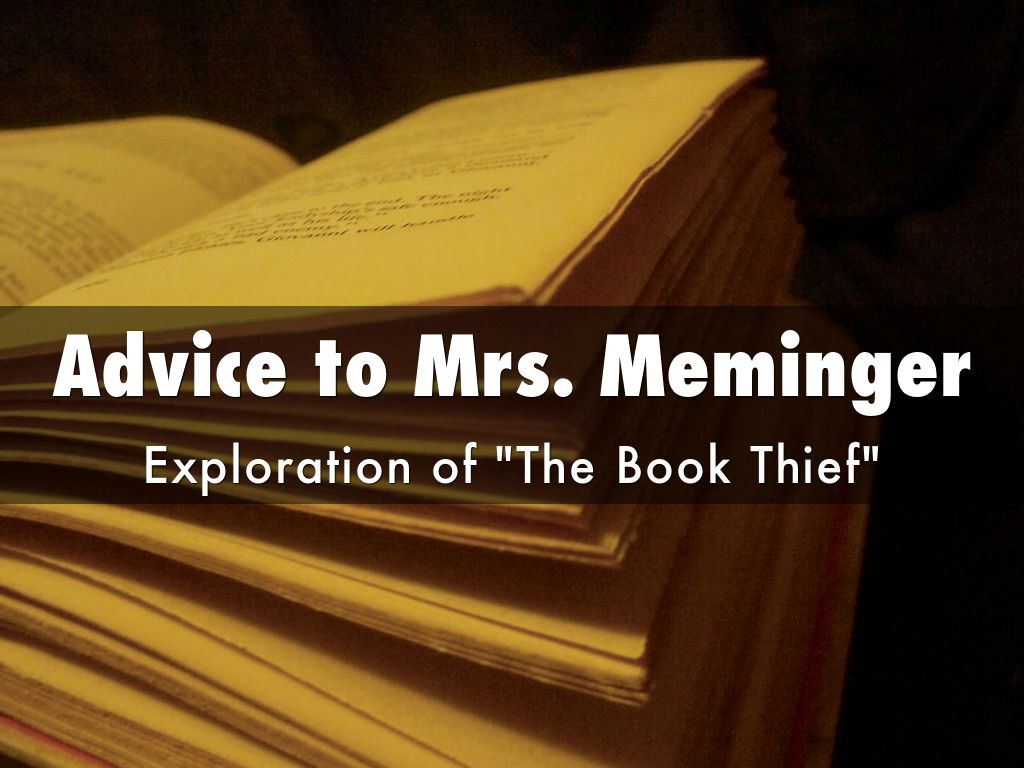 Advice To Mrs Meminger Exploration Of The Book