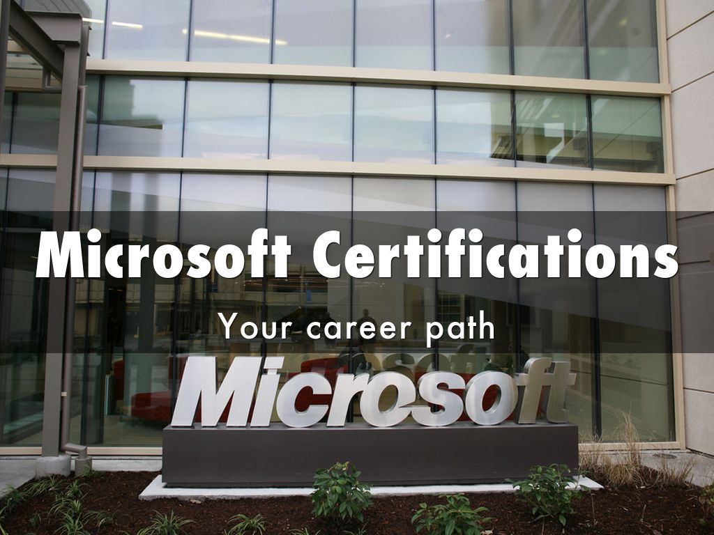 Microsoft Certifications By Christos Pittis