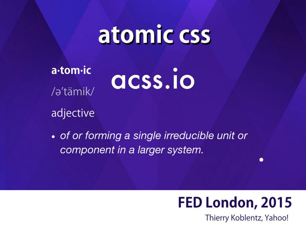Atomic css