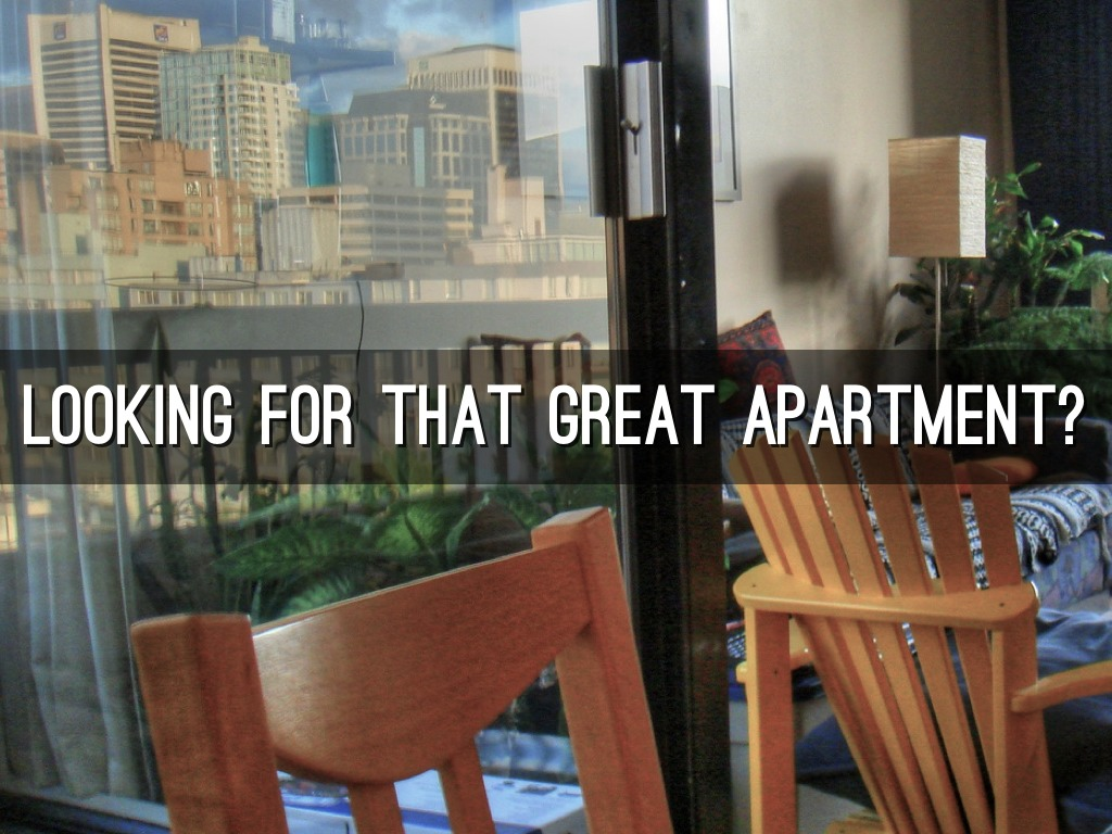 Looking For That Great Apartment By Nick Baldwin