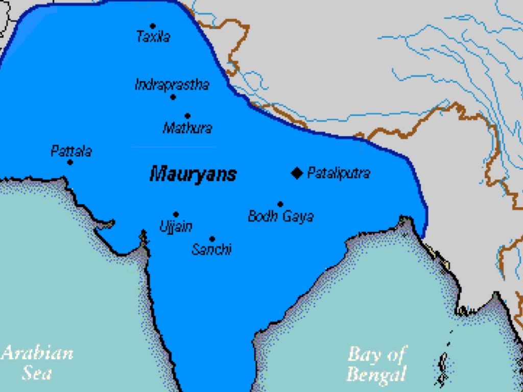 mauryan gupta indian vs han dynasty methods of political control