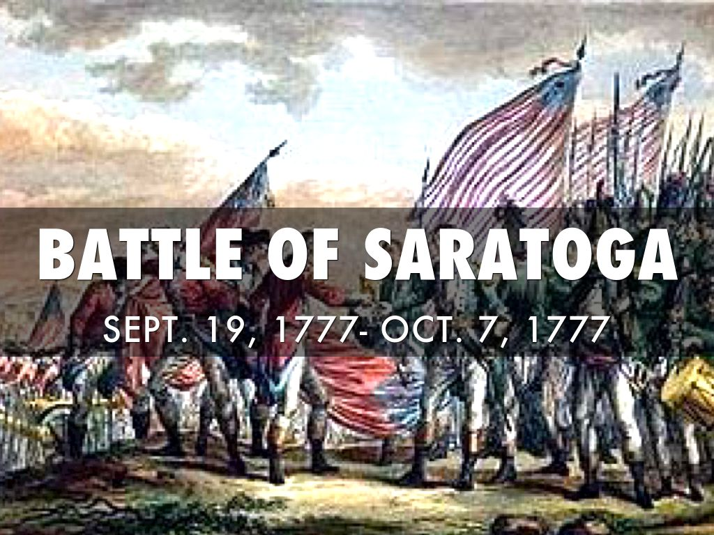 battle of saratoga essay Why did the british lose the battle of saratoga an essay will be given as homework at the end of the inquiry and due the following day materials required.