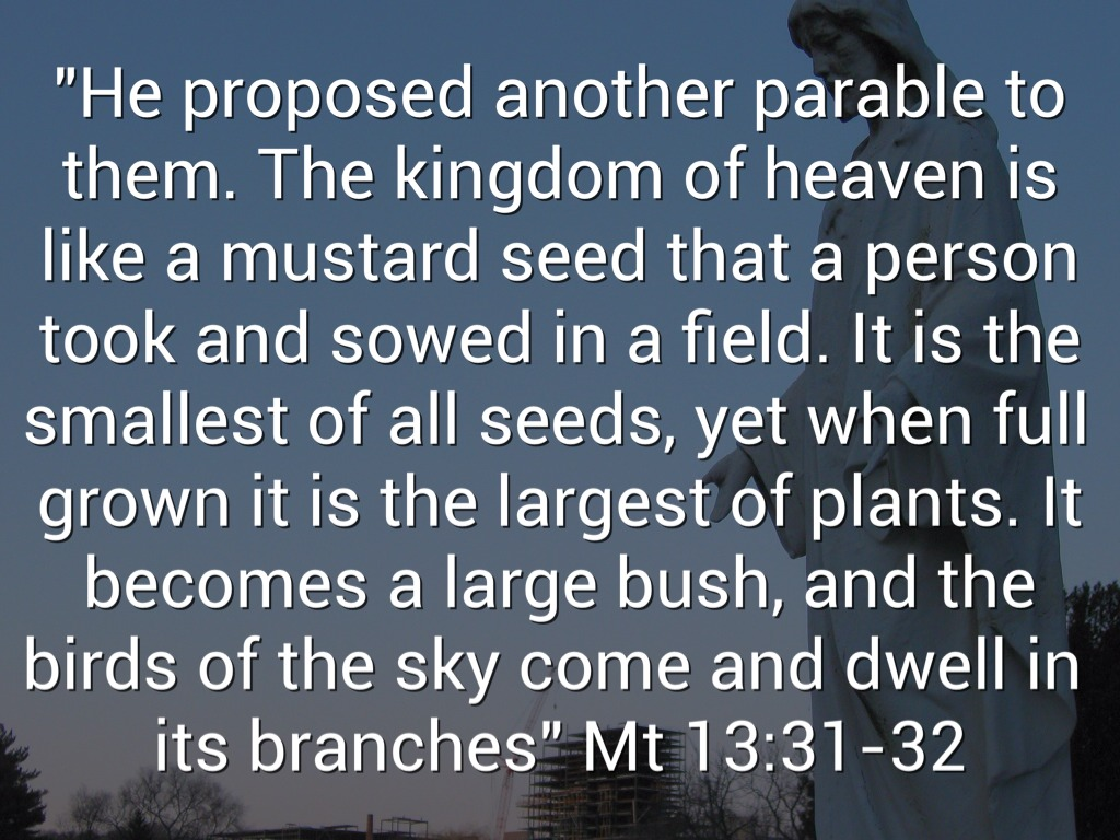 parable of the mustard seed Parable of the mustard seed sermon, parable of the mustard seed sermon by ed wood takes you through - matthew 13:31-32 parable general sermons.