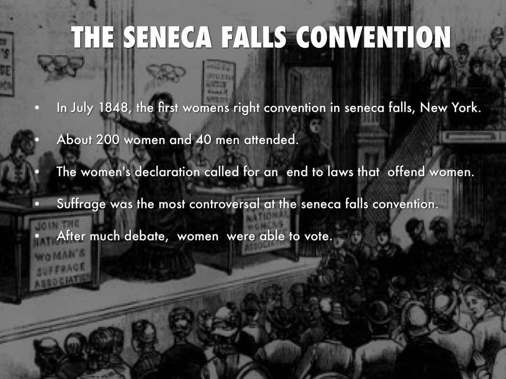 an analysis of the womens right to vote and the seneca falls convention by elizabeth cady stanton an Under the leadership of lucretia mott and elizabeth cady stanton, a convention for the rights of women was held in seneca falls, new york in 1848 it was attended by between 200 and 300 people, both women and men.