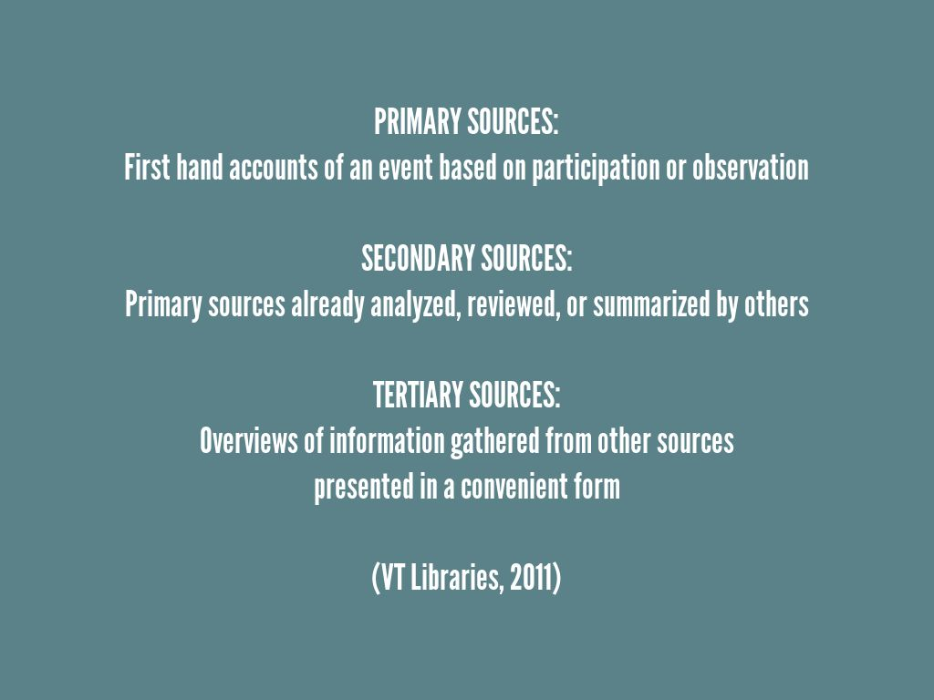 primary secondary source summarization project