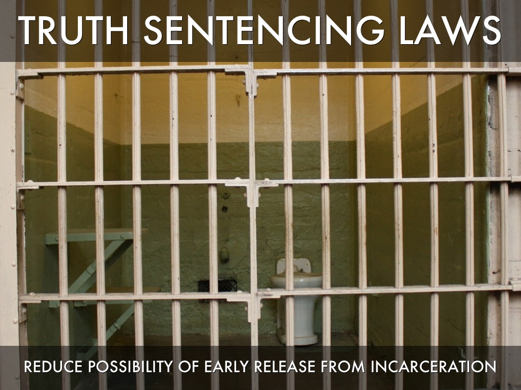 truth in sentencing laws Read this essay on truth in sentencing laws do not deter crime come browse our large digital warehouse of free sample essays get the knowledge you need in order to pass your classes and more.
