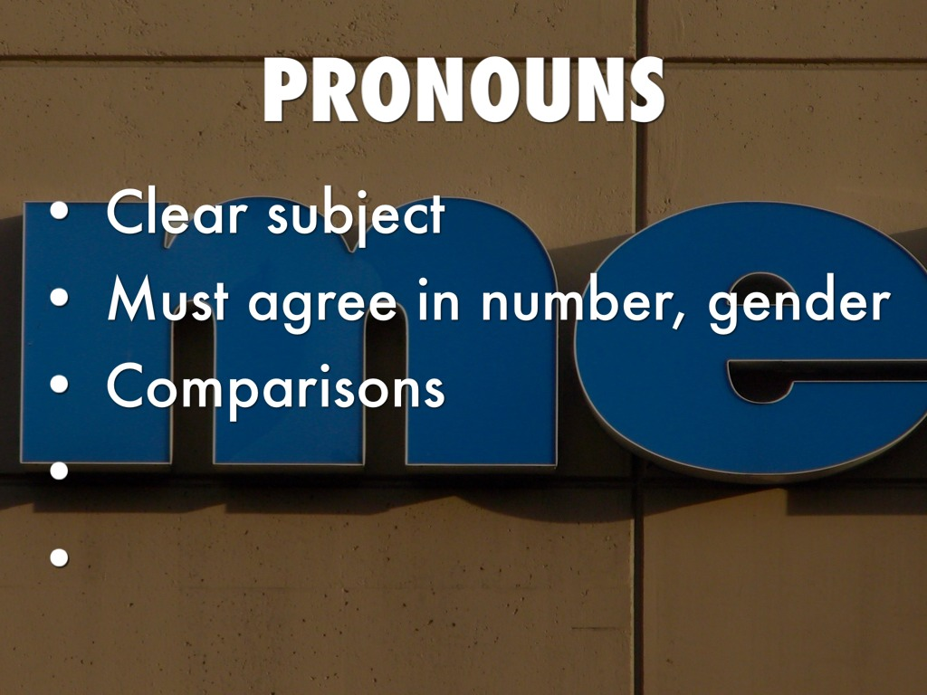 clear pronoun