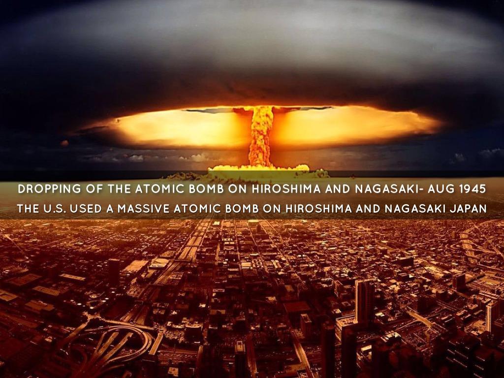 an analysis of the atomic bomb dropped on hiroshima and nagasaki