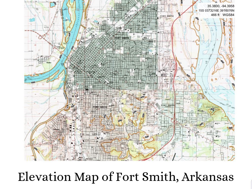 Topography Of Fort Smith Arkansas by Collin Shay