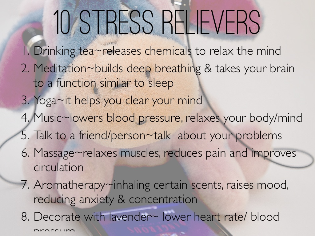 10 Stress Relievers