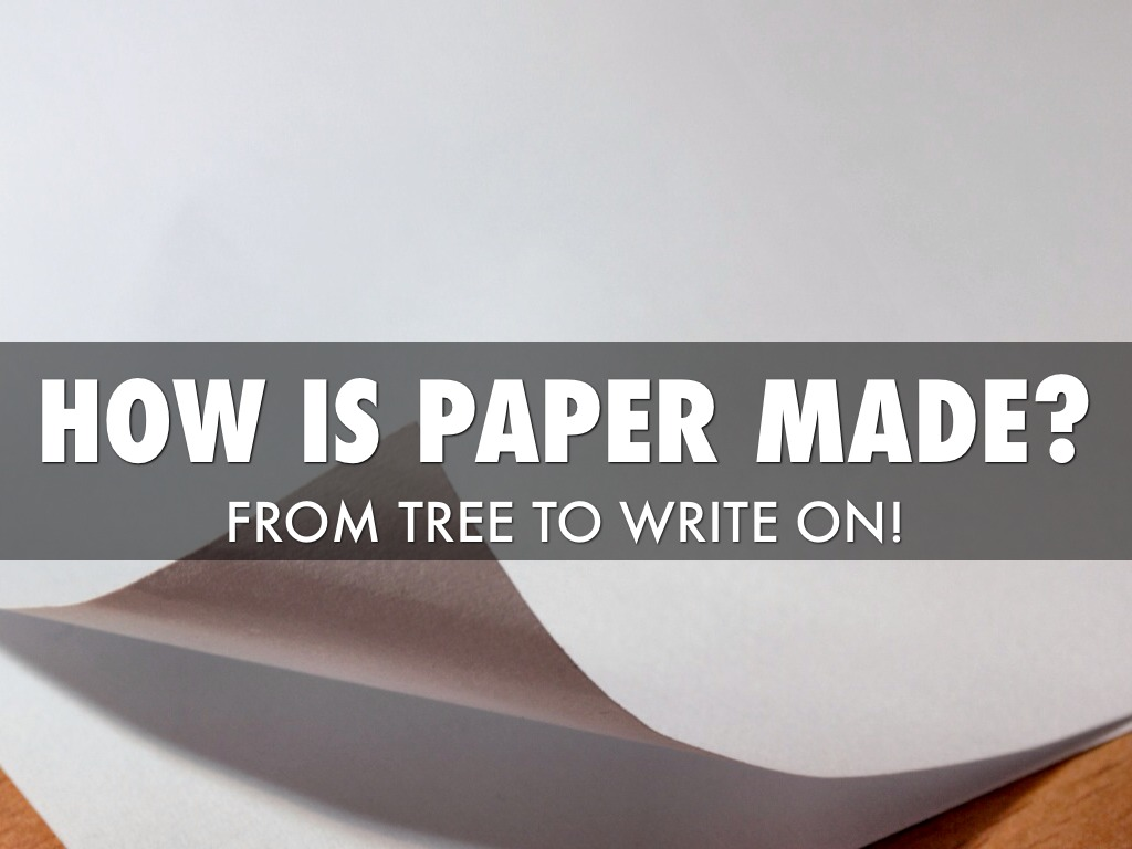 How Paper Is Made! by Eric Vermule