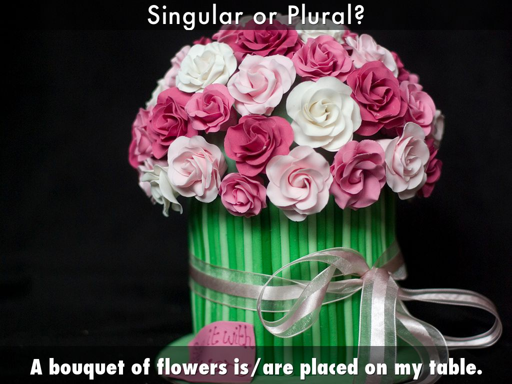 Singular and plural nouns by shirley tan a bouquet of flowers isare placed on my table reviewsmspy