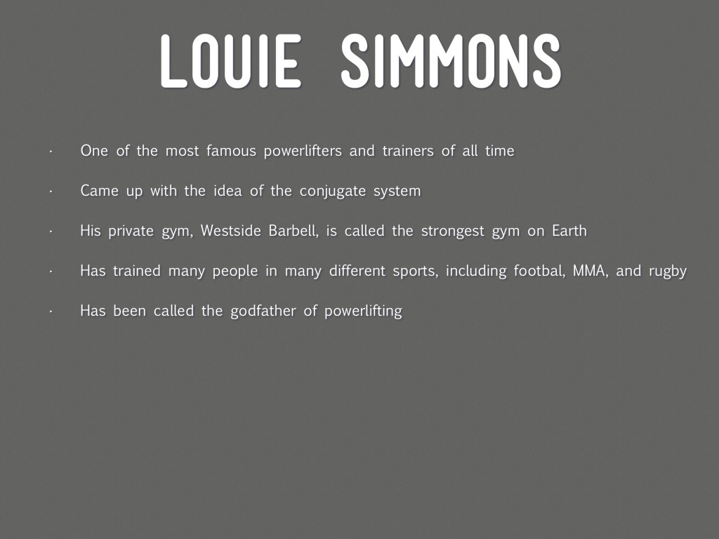 Louie Simmons And The Conjugate System by Luke Henry