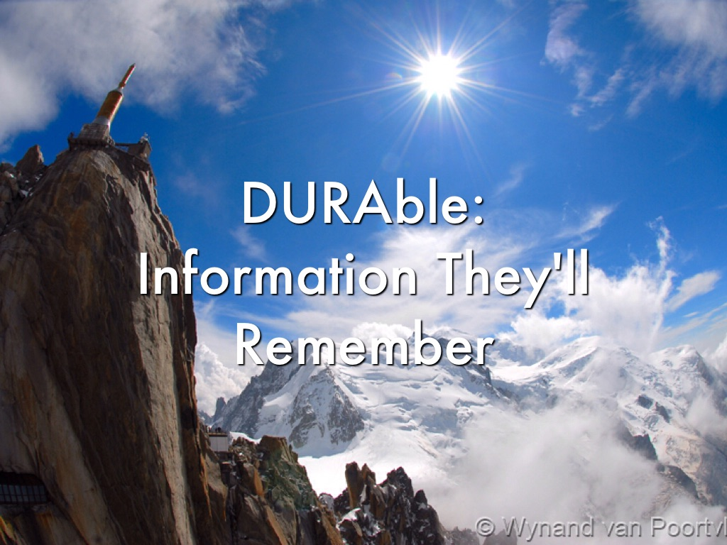 DURAble: Creating An Informative Speech