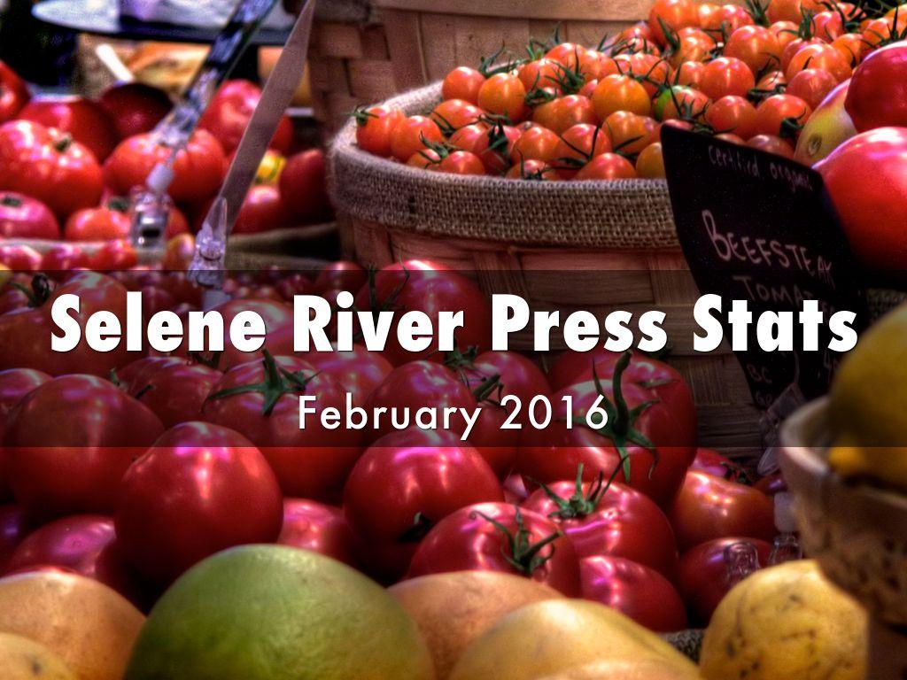 Selene River Press Stats February 2016