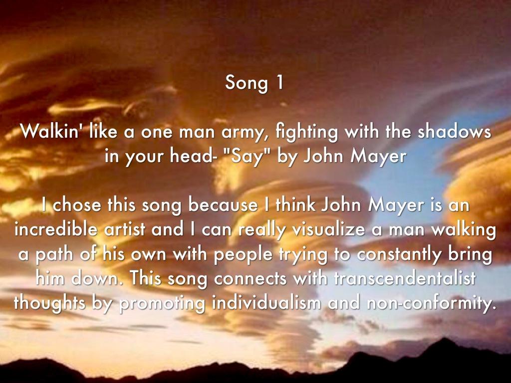 transcendentalism songs