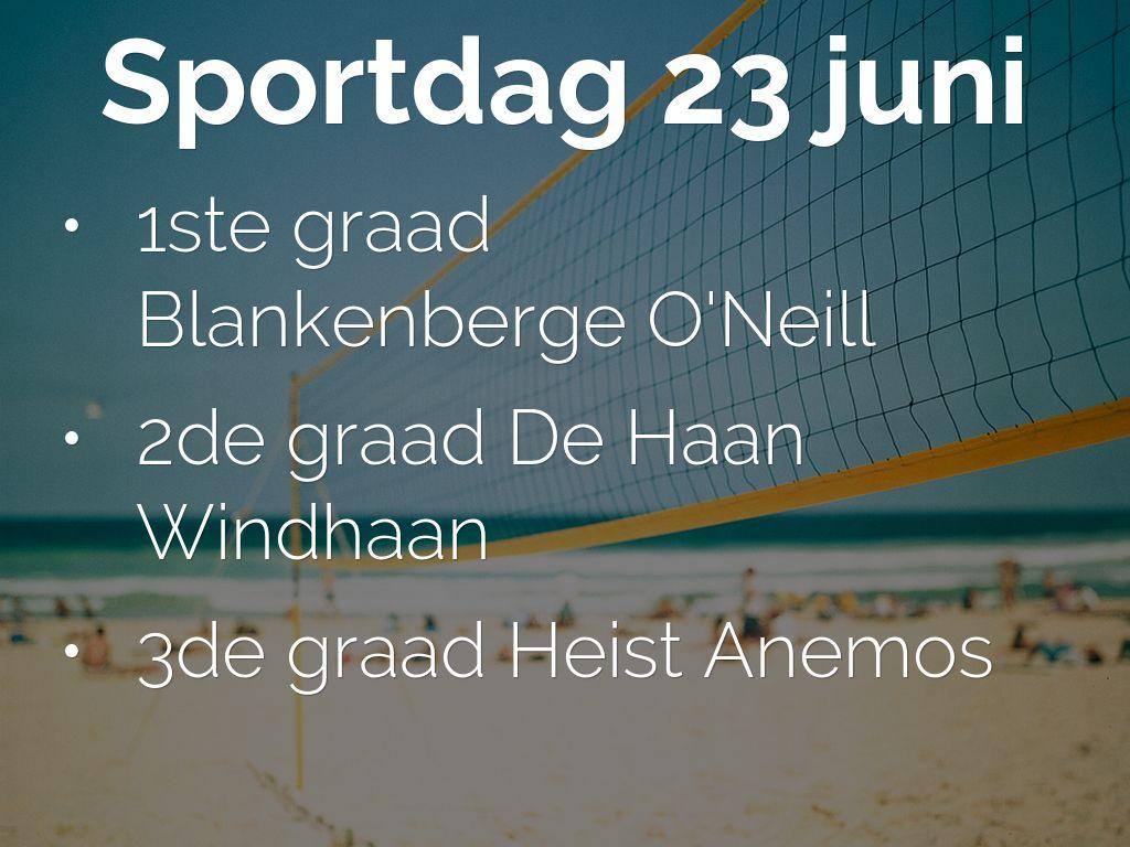 Sportdag 23 juni