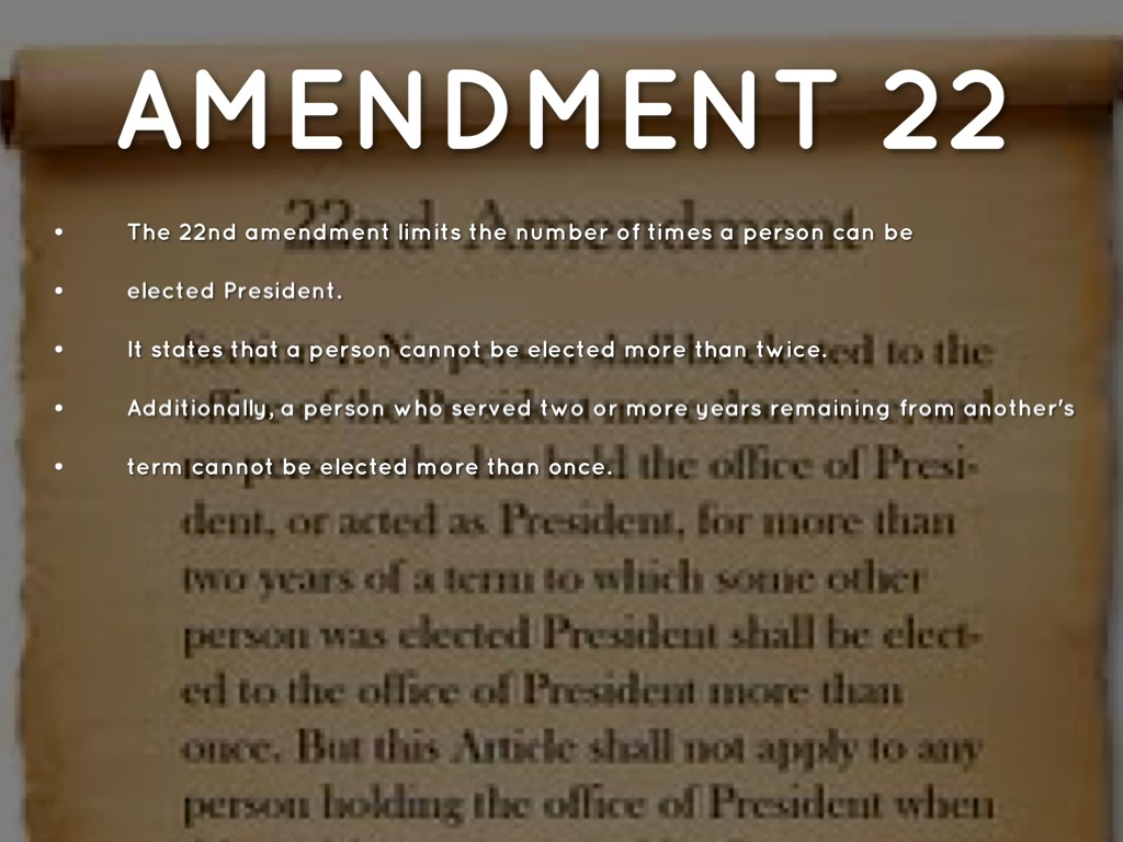 what does the 22nd amendment say