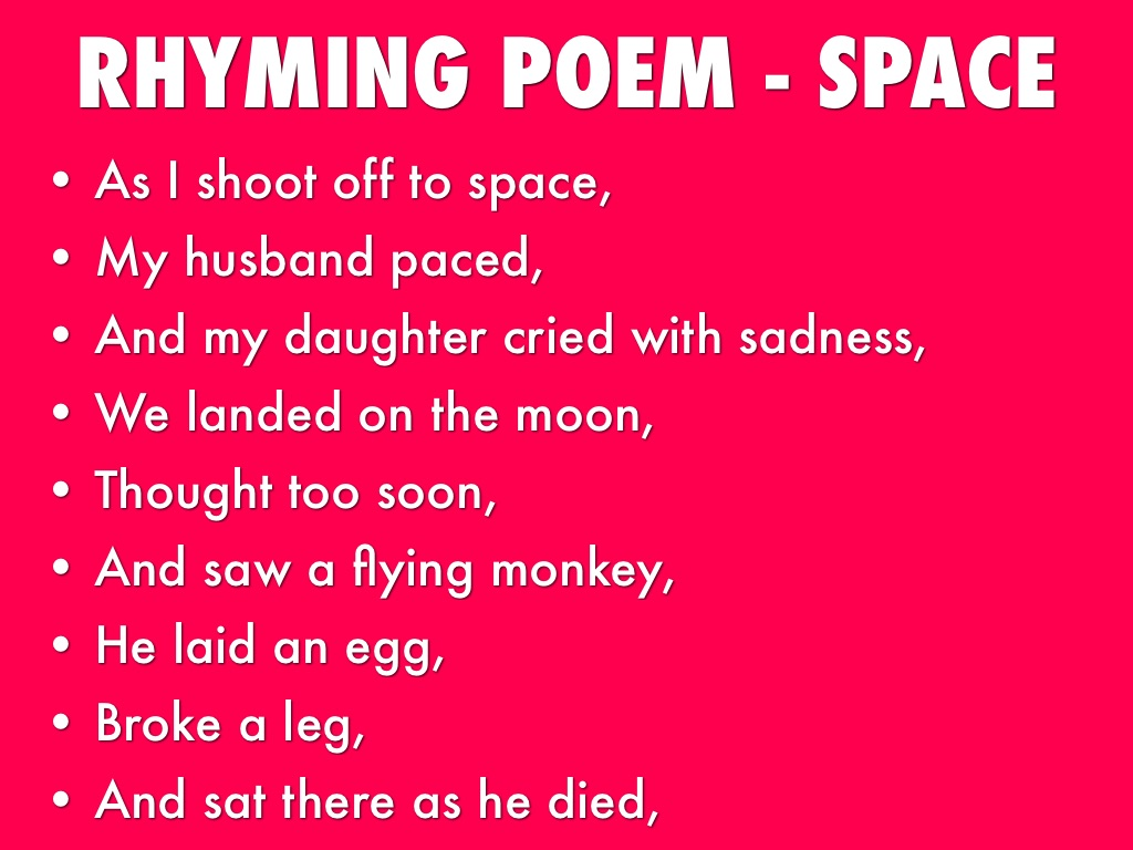 astronomy poems that rhyme - photo #45