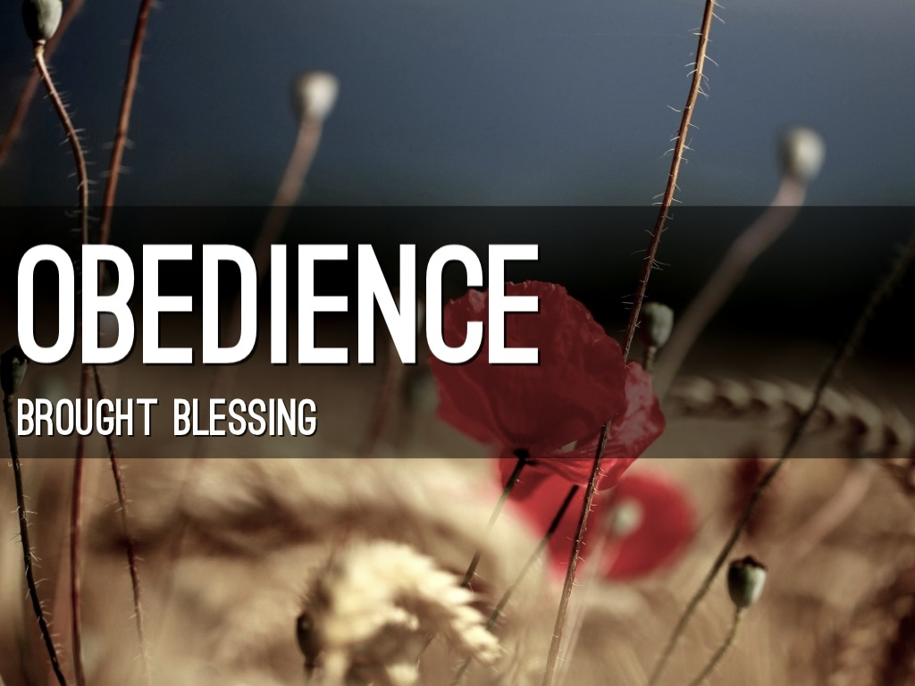 a discussion on obedience and god blessing Folks on-line.