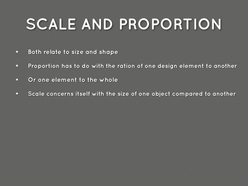 principles of design proportion and scale