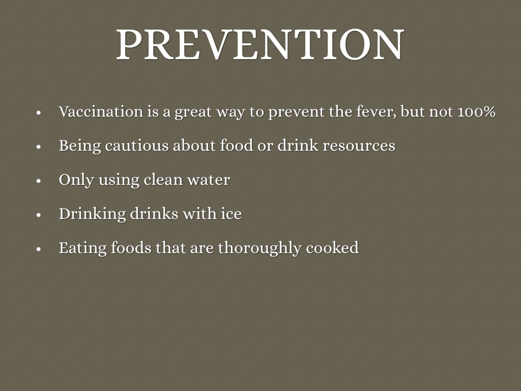 Effective treatment and prevention of typhoid fever: updated.