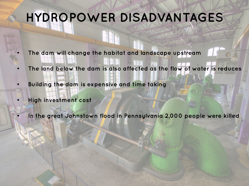 Hydropower Disadvantages By James Davenport