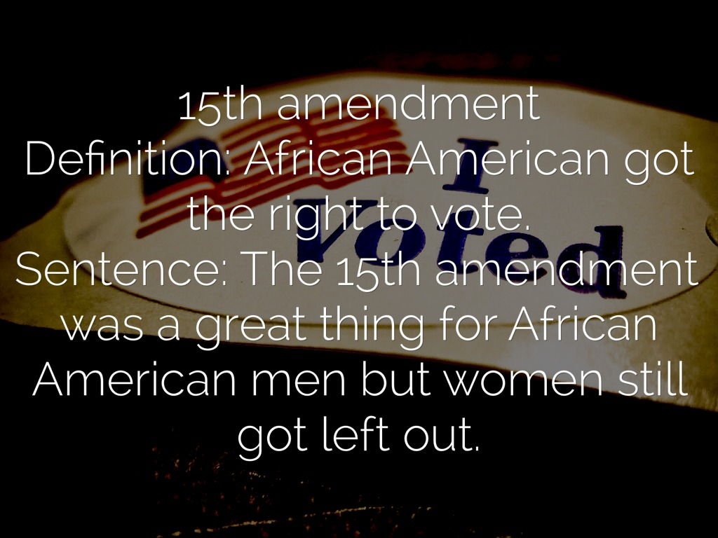 15th Amendment Definition