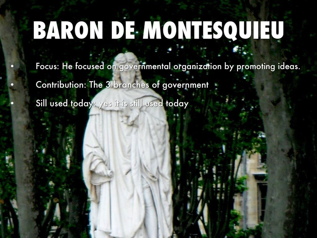 baron de montesquieu contributions