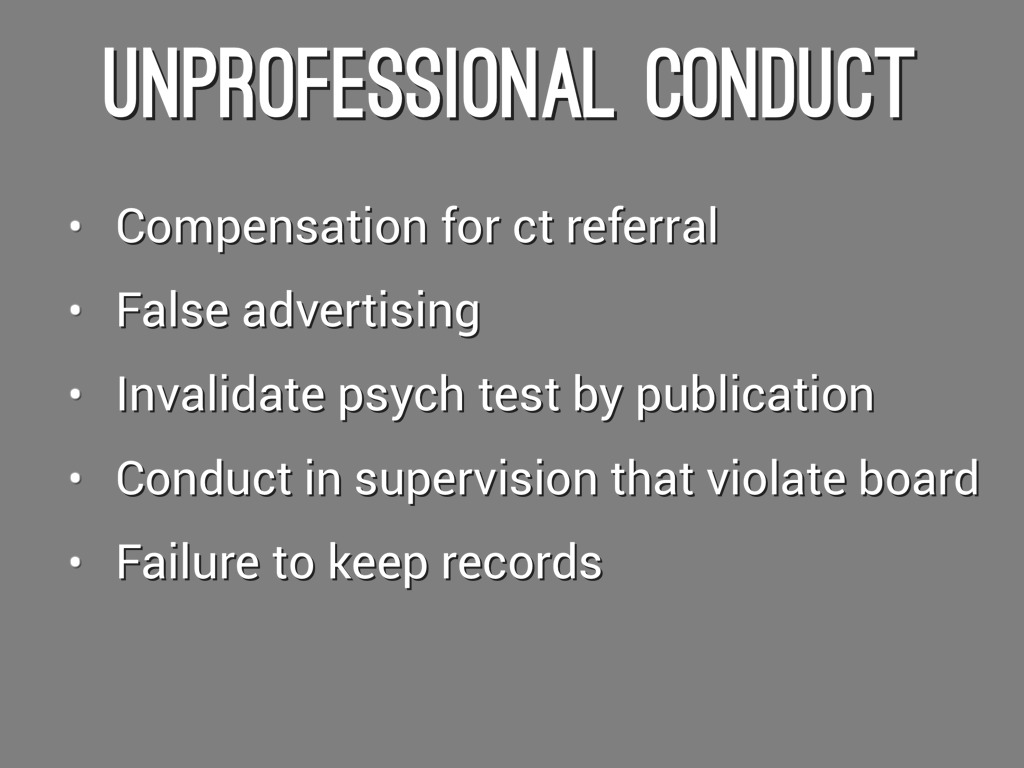 unprofessional conduct College essay writing service question unprofessional conduct, please make sure the work is cited correctly also the questions are below based on the article thanks assignment 2: workplace ethics due week 8 and worth 275 points overview this assignment will give you the opportunity to choose a case study, and then write about.