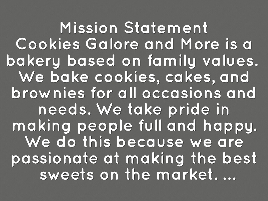 bakery mission statements