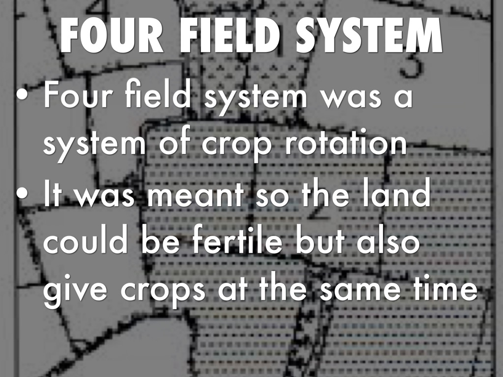 When Was Four Field Crop Rotation Invented
