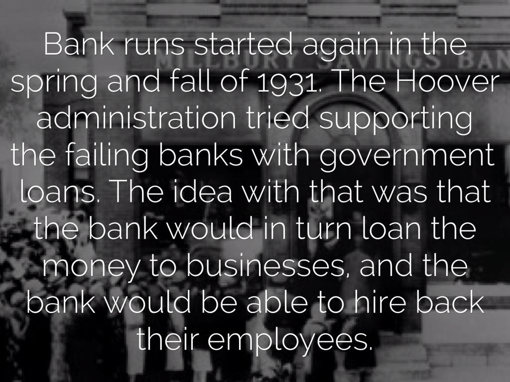 bank runs great depression