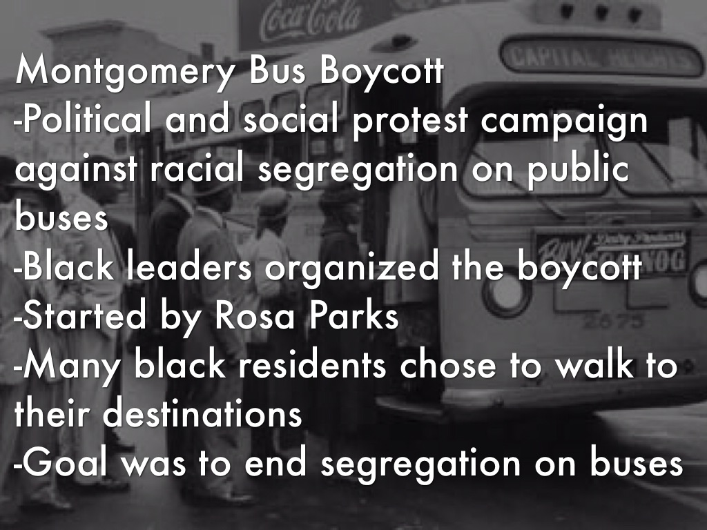 the montgomery bus protest and consequences