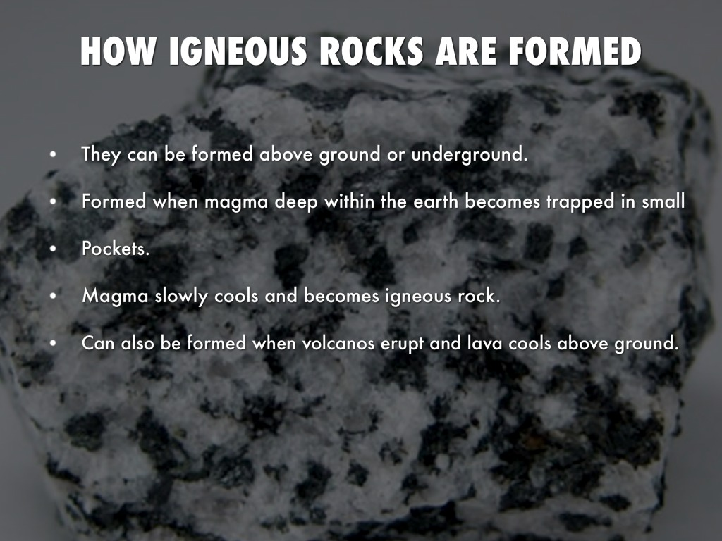 Igneous Rocks By Madisen Koch