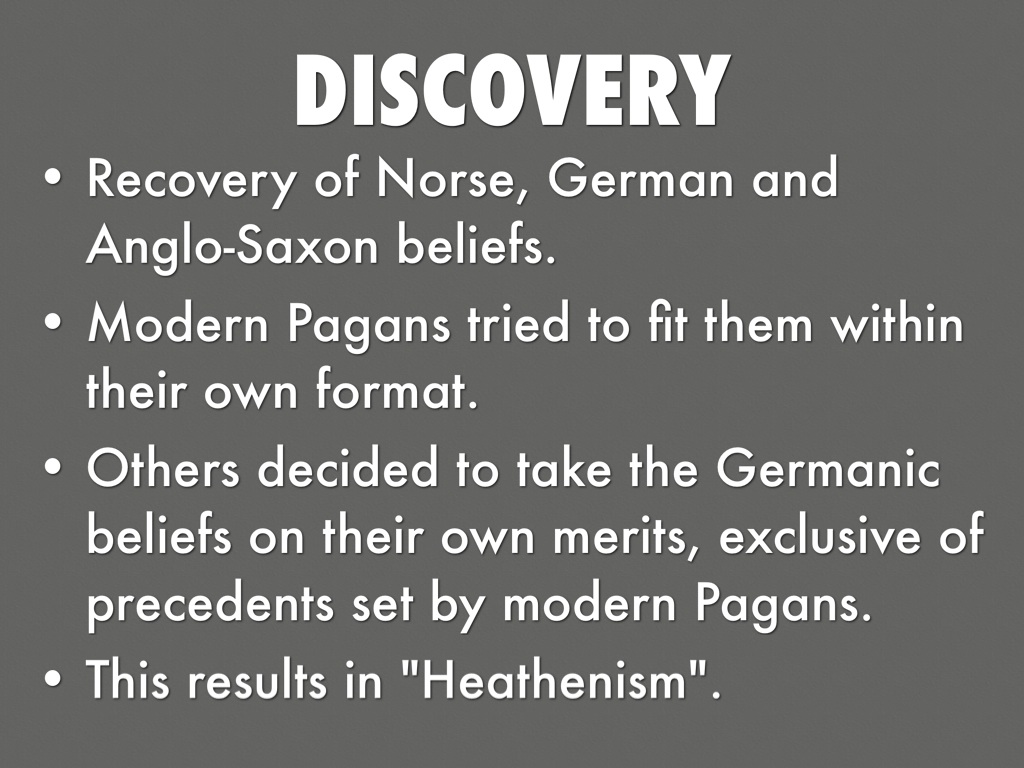 The values of germanic pagan and