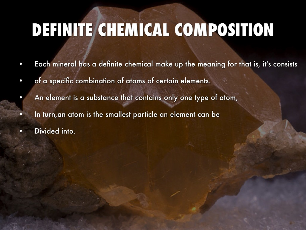 Definite chemical composition meaning in hindi