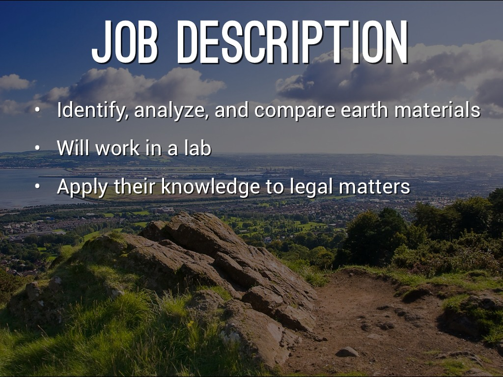 how to become a forensic geologist