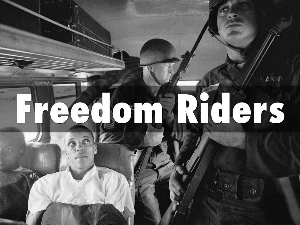 freedom riders The goal of the freedom riders was to draw national attention to and incite federal action against the non-enforcement in the segregated south of the supreme court.