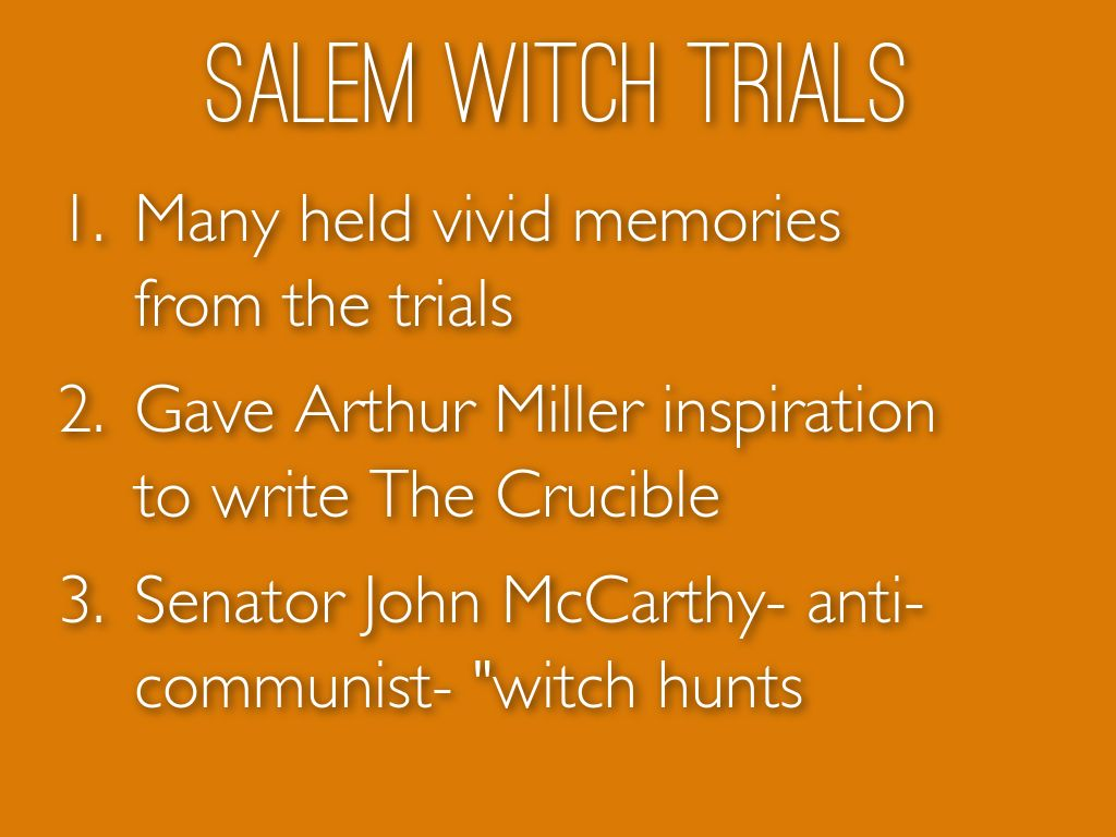 ending conclusion for salem witch trials and mccarthyism