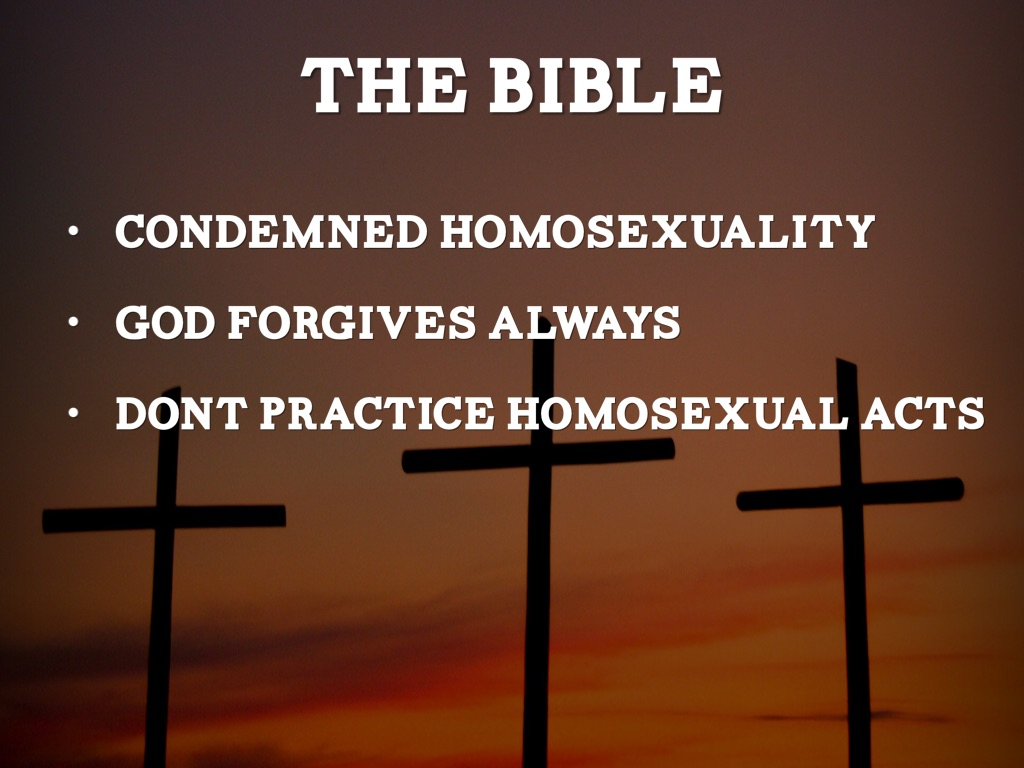 is homosexuality condemned in the bible