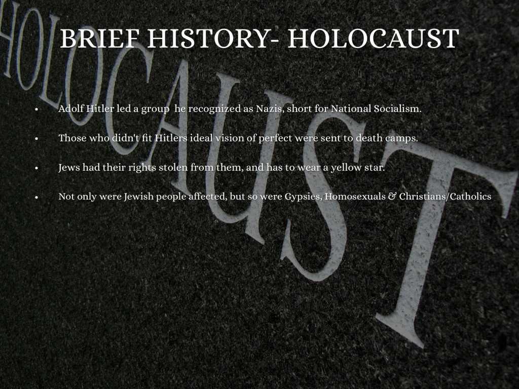 a brief history of the holocaust