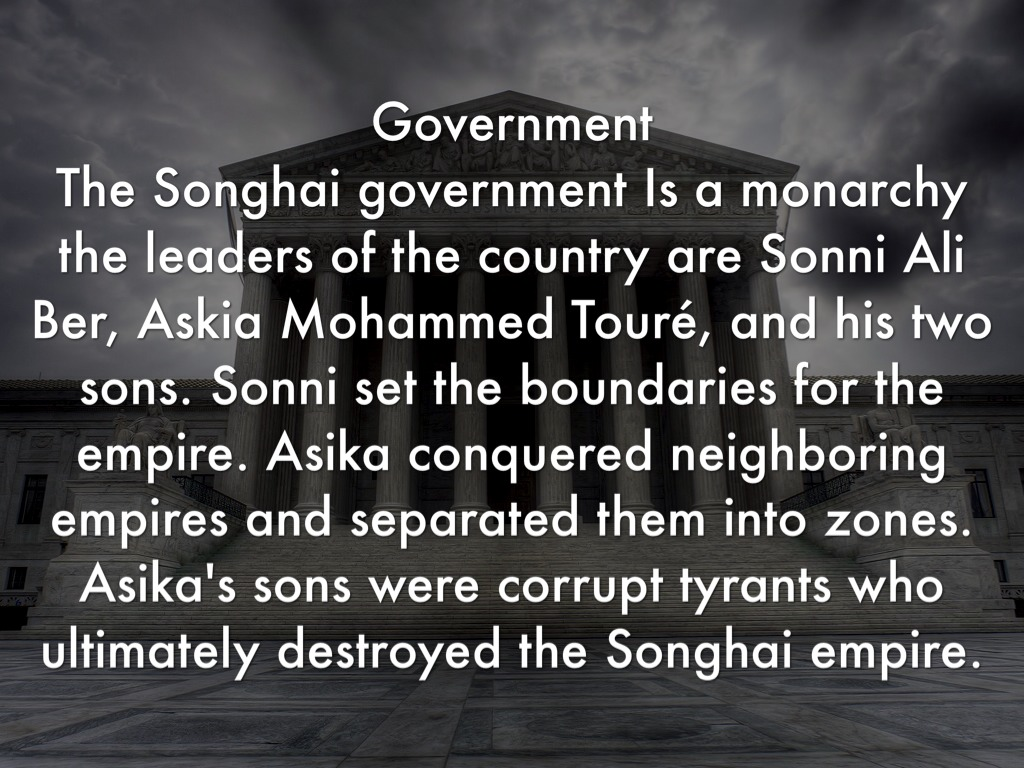 songhai empire government