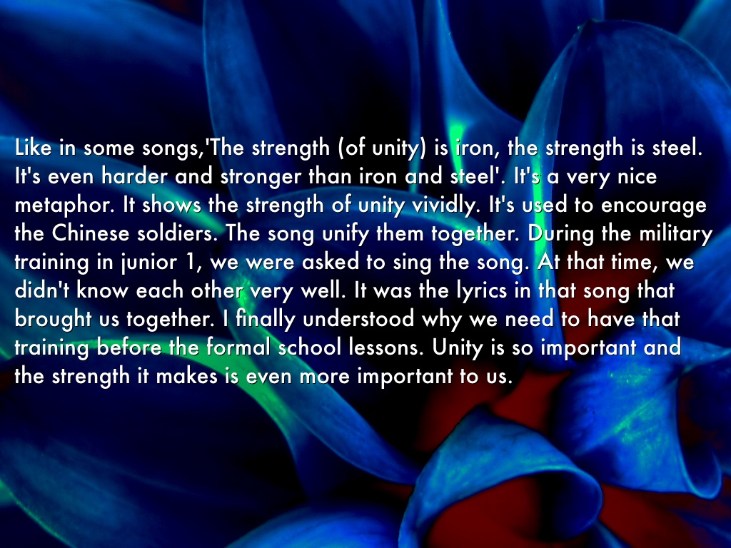 essay on proverb unity is strength I have the privilege of giving this speech on unity is strength it is said that united we stand, divided we fall no home can be strong, happy and peaceful without unity.