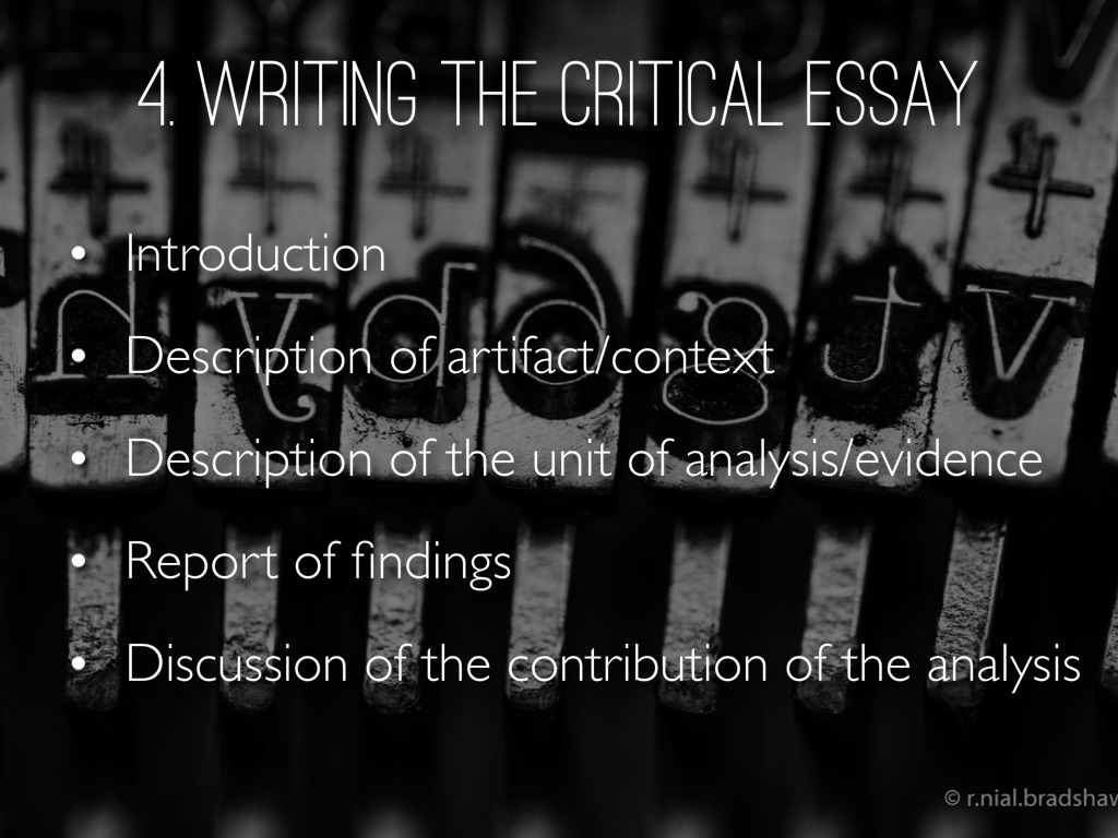ideological criticism essay The method of ideological criticism was used to explore the research question because (syrian refugee crisis faq: what you need to know, 2016) in this essay.