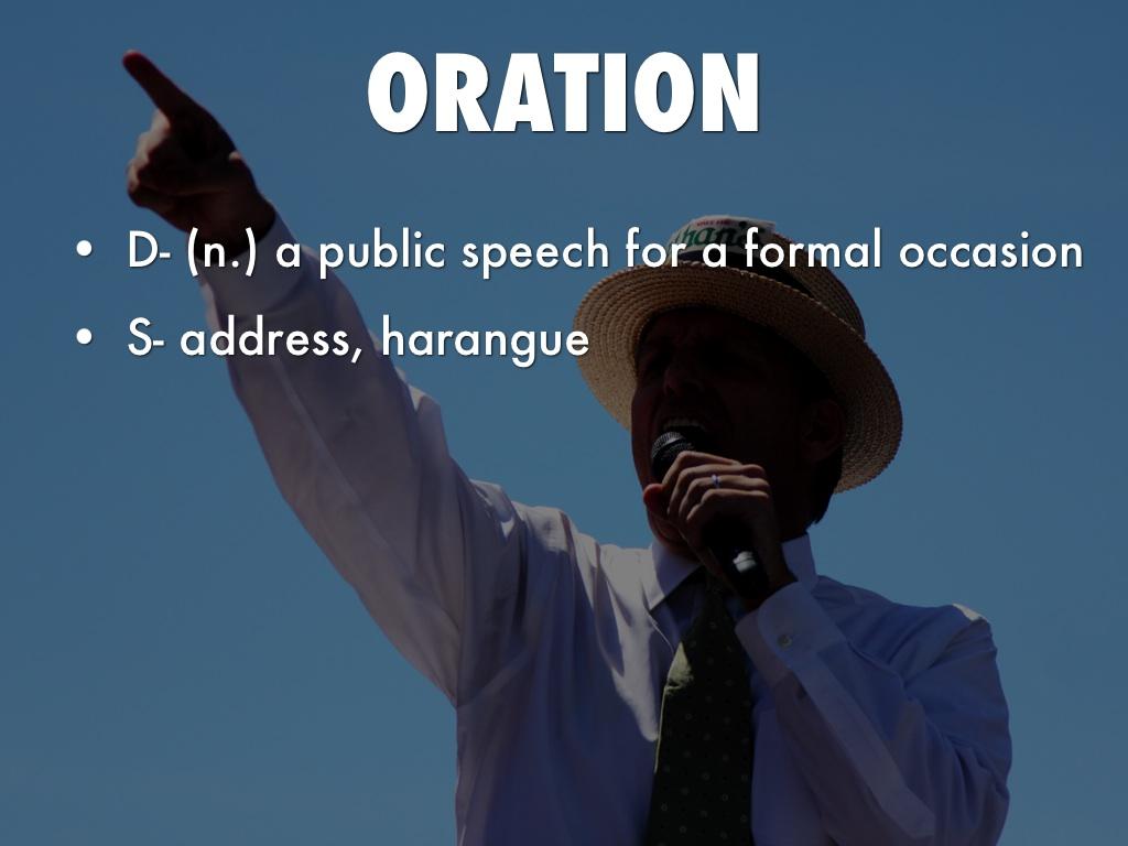 my speech for oration