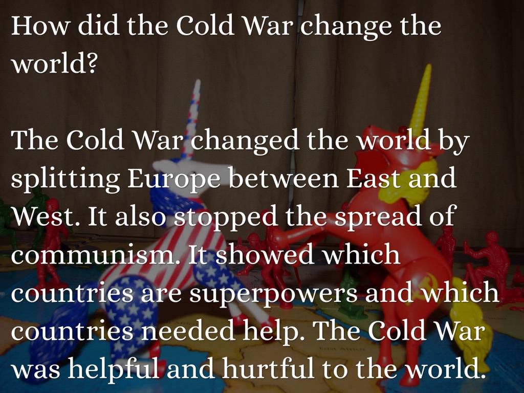 how did the cold war transform The cold war was a nearly 50-year-long political, ideological, and military struggle for global power that was waged between the united states and the soviet union from the end of world war ii until the early 1990s, the cold war was the united states' preeminent international concern, directing all .