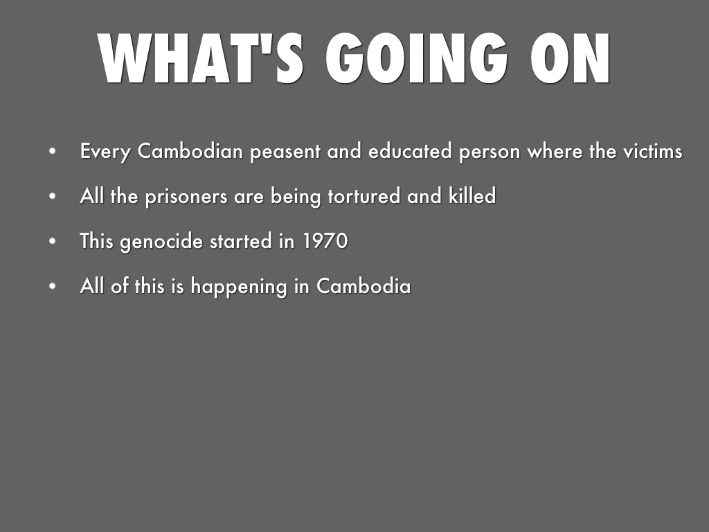 genocide by gerardo gonzalez what s going on