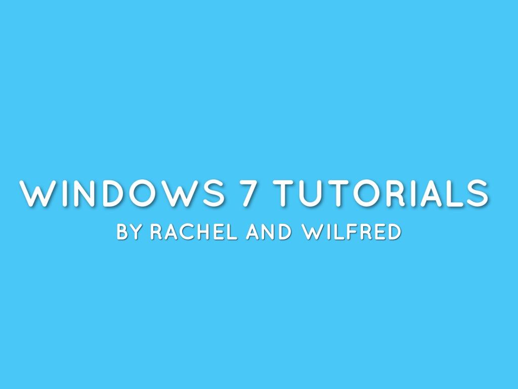 Windows 7 Presentation-home group And Task Bar